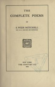 Cover of: The Complete Poems Of S. Weir Mitchell