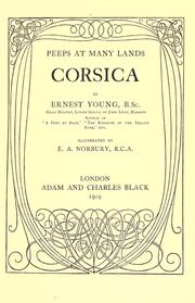 Cover of: Corsica by Ernest Young