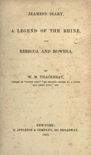 Cover of: Jeames's diary: A legend of the Rhine, and Rebecca and Rowena.