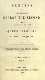 Cover of: Memoirs of the reign of George the Second