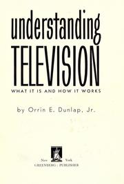 Cover of: Understanding television