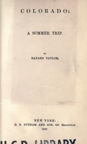 Cover of: Colorado: a summer trip