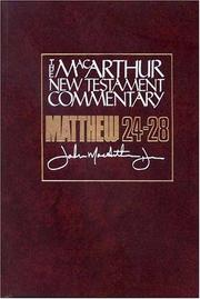 Cover of: Matthew 24-28