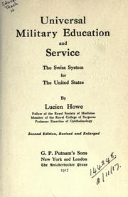 Cover of: Universal military education and service