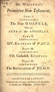 Cover of: Primitive New Testament