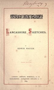 Cover of: Lancashire sketches