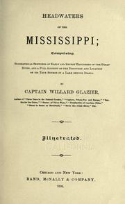 Cover of: Headwaters of the Mississippi