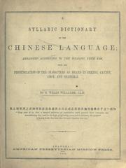Cover of: A syllabic dictionary of the Chinese language