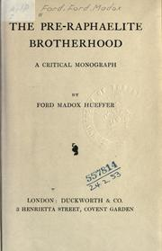 Cover of: The Pre-Raphaelite brotherhood