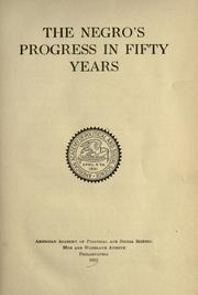 Cover of: The Negro's progress in fifty years