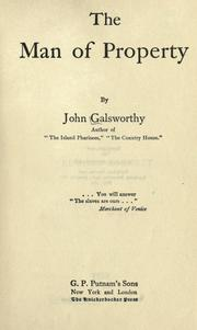 Cover of: The man of property by John Galsworthy