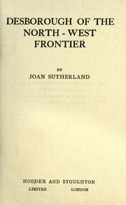 Cover of: Desborough of the north-west frontier