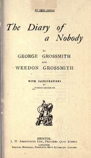 Cover of: The diary of a nobody [by] George Grossmith and Weedon Grossmith