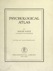 Cover of: Psychological atlas