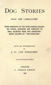 "Cover of: Dog stories, from the ""Spectator"" 