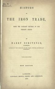 History of the iron trade by Harry Scrivenor