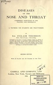 Cover of: Diseases of the nose and throat