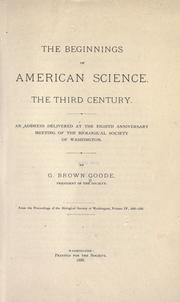 Cover of: The beginnings of American science
