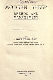 Cover of: Modern sheep, breeds and management |