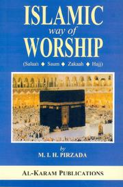 Cover of: Islamic way of Worship | M.I.H Pirzada