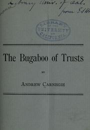 Cover of: The bugaboo of trusts