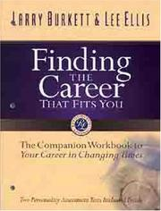 Cover of: Finding the career that fits you
