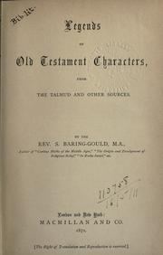 Cover of: Legends of Old Testament characters