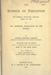 Cover of: The science of education | Johann Friedrich Herbart
