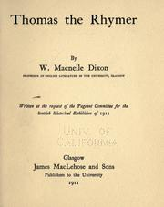 Cover of: Thomas the Rhymer