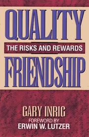 Cover of: Quality friendship