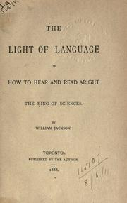 Cover of: The light of language