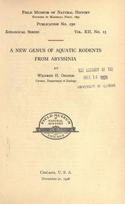 Cover of: A new genus of aquatic rodents from Abyssinia