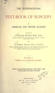 Cover of: The international text-book of surgery