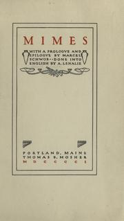Cover of: Mimes, with a prologve and epilogve