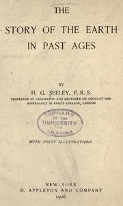 Cover of: The story of the earth in past ages