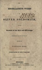 The miscellaneous works of Oliver Goldsmith by Goldsmith, Oliver