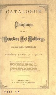 Cover of: Catalogue of paintings in the Crocker art gallery, Sacramento, California