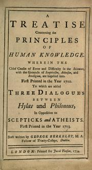 Cover of: A Treatise Concerning the Principles of Human Knowledge