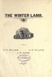 Cover of: The winter lamb | H. H. Miller