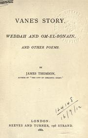 Cover of: Vane's story, Weddah and Om-el-Bonain, and other poems
