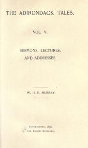 Cover of: Sermons, lectures, and addresses