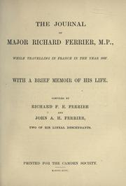 Cover of: The journal of Major Richard Ferrier
