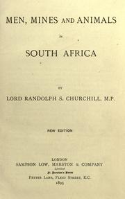 Cover of: Men, mines and animals in South Africa
