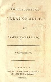 Philosophical arrangements by Harris, James
