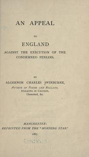 Cover of: An appeal to England against the execution of the condemned Fenians