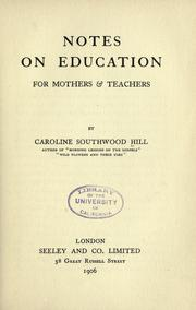 notes on education