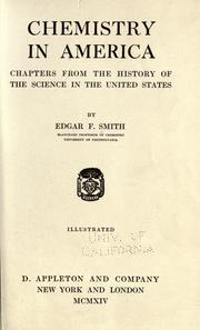 Cover of: Chemistry in America: chapters from the history of the science in the United States