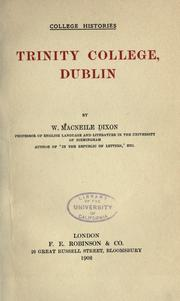 Cover of: Trinity College, Dublin