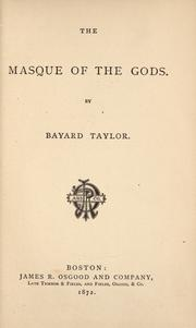Cover of: The  masque of the gods