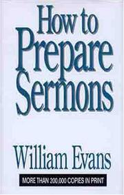 Cover of: How To Prepare Sermons